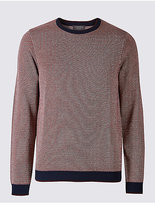 Limited Edition Pure Cotton Textured Slim Fit Jumper