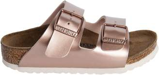 Birkenstock Arizona Metallic Leather Sandals