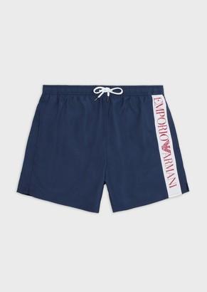 Emporio Armani Colour-Block Swim Trunks