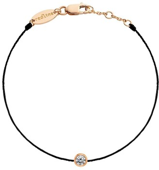 Redline 18kt rose gold Pure diamond string bracelet
