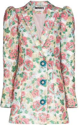 Rotate by Birger Christensen Carol floral jacquard blazer dress