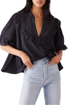 Free People Walk In The Park Ruffled Top