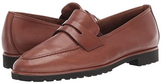 Paul Green Billy Loafer (Nougat Leather) Women's Shoes