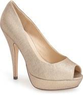 Menbur 'Sotogordo' Glitter Peep Toe Platform Pump (Women)