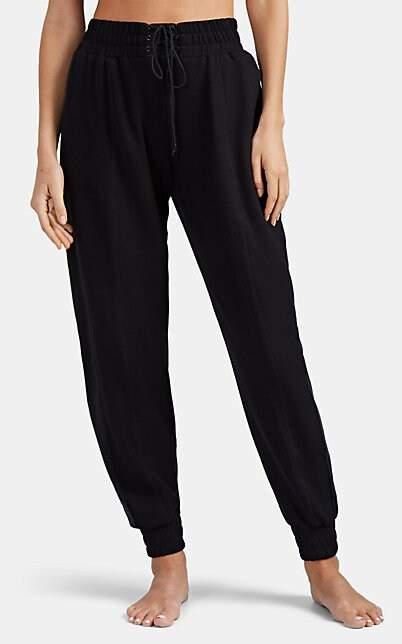 Kiki de Montparnasse Women's Lace-Up Jersey Jogger Pants - Black
