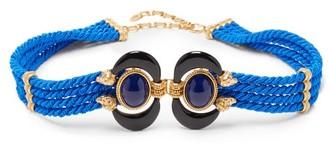 Sonia Petroff - Aries Cabochon-embellished Rope Belt - Blue Multi