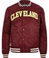 River Island Dark Red Schott 'cleveland' Bomber Jacket