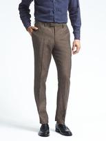 Banana Republic Slim Solid Linen Suit Trouser