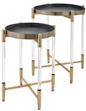 Walter George Oliver 2 Piece Metal Tray Top Table Set George Oliver