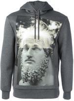 Neil Barrett modernist blocking hooded sweatshirt - men - Polyurethane/Viscose - S