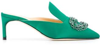 Giannico Embellished Low Heel Mules