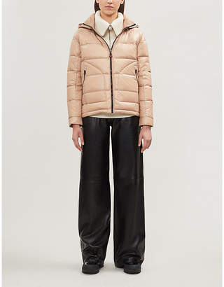 49 WINTERS Boxy Down hooded shell-down jacket