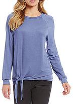 Westbound Petites Long Sleeve Tie Sweatshirt