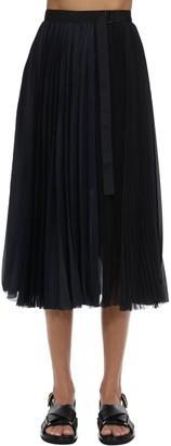 Sacai Pleated Satin Skirt