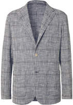 Altea Unstructured Prince of Wales Checked Stretch Cotton-Blend Blazer