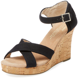 Toms Strappy Canvas Wedge Sandal