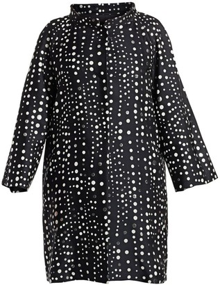 Marina Rinaldi, Plus Size Elegante Tarsia Polka Dot Duster