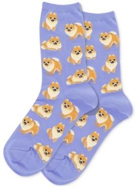 Hot Sox Pomeranian Crew Socks