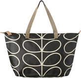 Orla Kiely Linear Stem Zip Shopper Bag - Liquorice