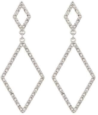 Vince Camuto Pave Double Drop Open Diamond Shape Earrings