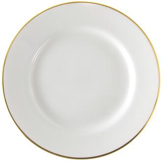 Ten Strawberry Street Set Of Six Gold Line Luncheon Plates