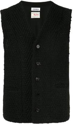 Coohem shadow herringbone tweed vest