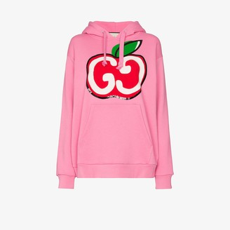 Gucci GG apple logo cotton hoodie