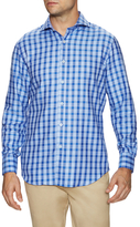 James Tattersall Plaid Print Dress Shirt