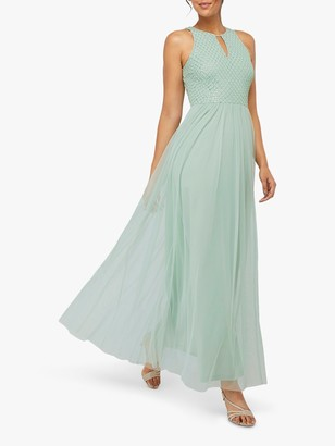 Monsoon Sophia Embellished Tulle Maxi Dress