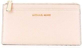 MICHAEL Michael Kors pebbled-effect card case