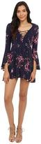 Brigitte Bailey Gia Lace-Up Floral Print Dress