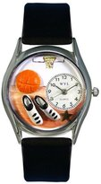 Whimsical Watches Women's S0820005 Basketball Black Leather Watch