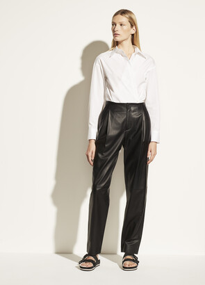 Vince Tapered Leather Pant