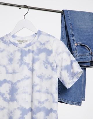 Miss Selfridge oversized t-shirt in tie dye