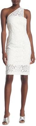 Reiss Sophia One Shoulder Lace Dress