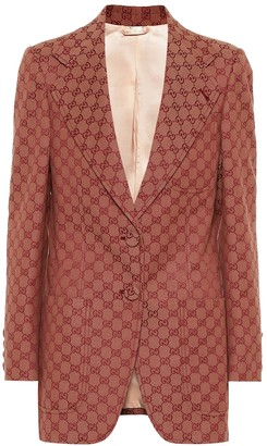 Gucci GG cotton-blend blazer