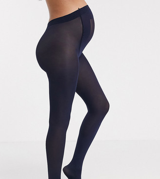 ASOS DESIGN Maternity new improved fit 80 denier tights in navy