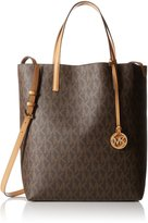 MICHAEL Michael Kors Hayley Large Convertible Tote Brown