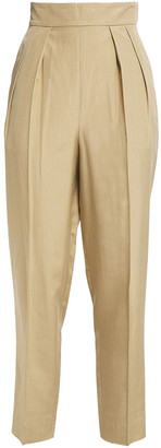 Theory Pleated Woven Tapered Pants