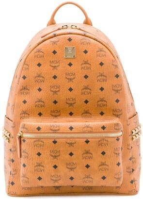 MCM logo print backpack