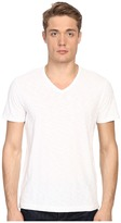 Vince Short Sleeve Slub V-Neck Shirt Men's Short Sleeve Pullover