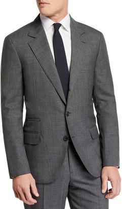 Brunello Cucinelli Men's Basic Rustic Wool Suit