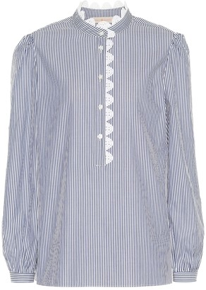 Tory Burch Striped cotton blouse