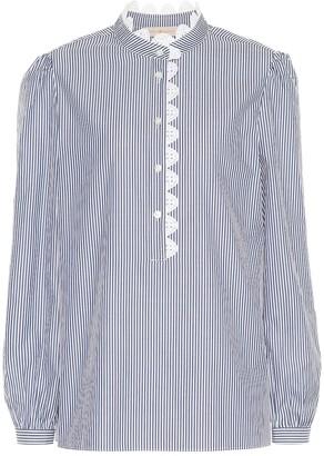 Tory Burch Striped cotton blouse