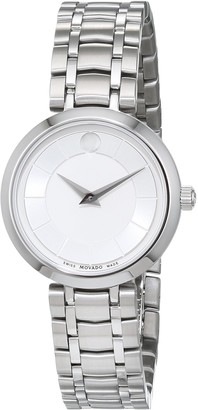 Movado Womens Analogue Classic Quartz Watch with Stainless Steel Strap 607098