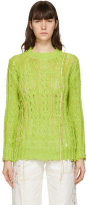 ANDERSSON BELL Green Hand-Stitch Distroid Layla Sweater