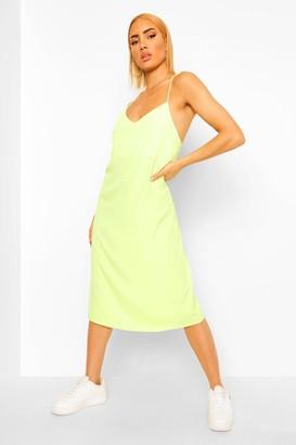 boohoo Strappy Midi Slip Dress