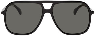 Gucci Black Ultralight Pilot Sunglasses