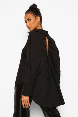 boohoo Oversized Open Back Shirt