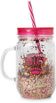 Juicy Couture Mason Jar & Straw Travel Cup